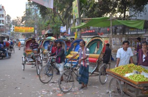 Rickshaw Drivers Outside of Geneva Camp